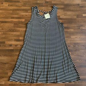 NWT Olivia Rae Striped Criss Cross Back Tank Dress